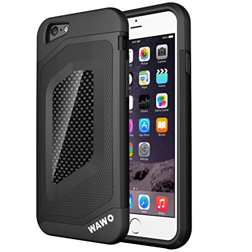 WAWO-Iphone-6-PLUS-Case-Full-Protection-Carbon-Fiber-Patch-Case-for-Apple-Iphone-6-PLUS-5.5-Inch-Black-0